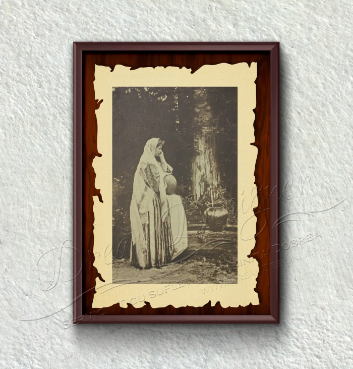 Detaliu tablou istoric - Restaurant Cercul Gospodinelor